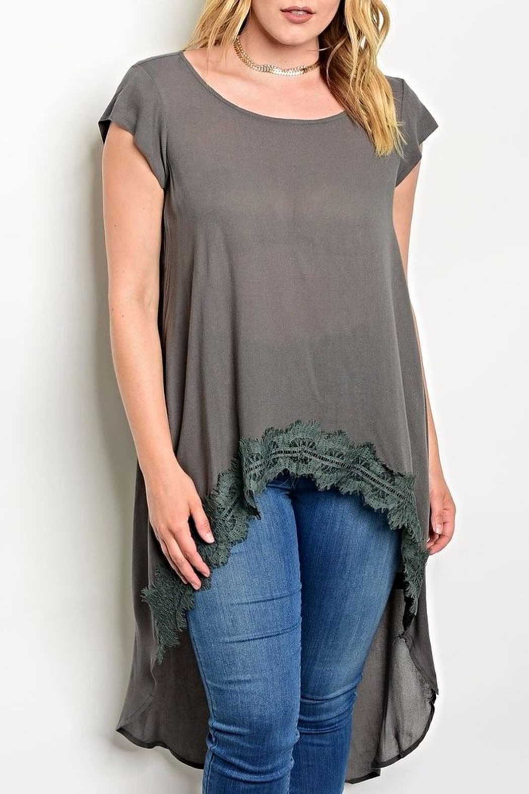Torrid Grey High Low Top - Main Image