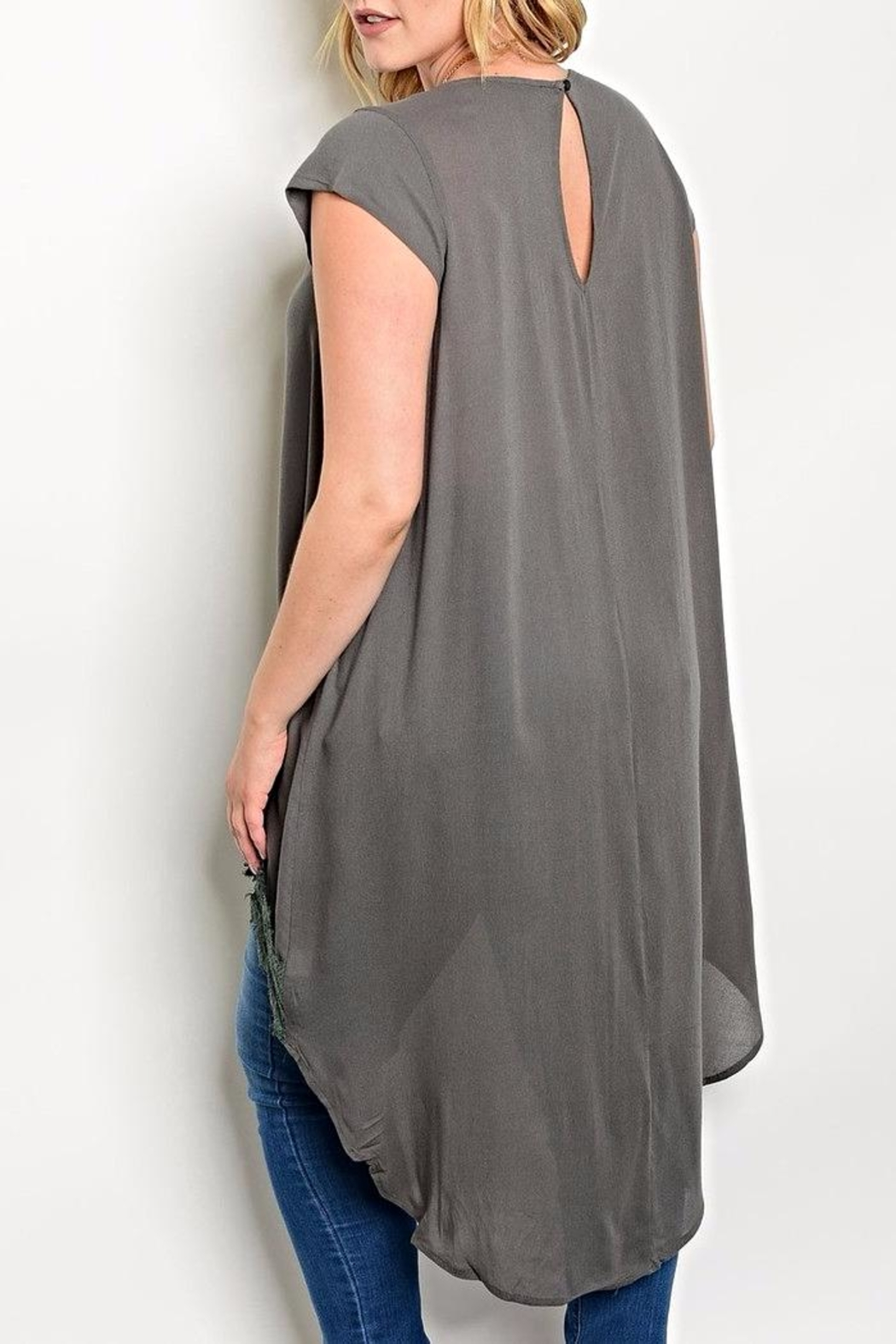 Torrid Grey High Low Top - Front Full Image