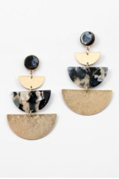 Shoptiques Product: Tortise Half-Circle Earrings