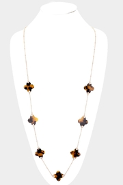 Embellish Tortoise Clover Necklace - Product Mini Image