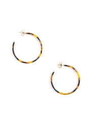 Wild Lilies Jewelry  Tortoise Hoop Earrings - Product Mini Image