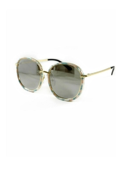 Shoptiques Product: Tortoise-Shell-Rose-Blue Youth Sunglasses