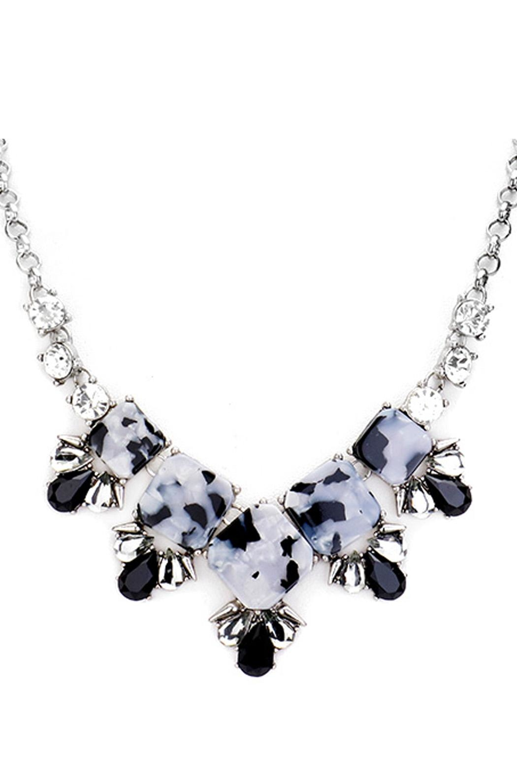 Wild Lilies Jewelry  Tortoise Statement Necklace - Front Full Image