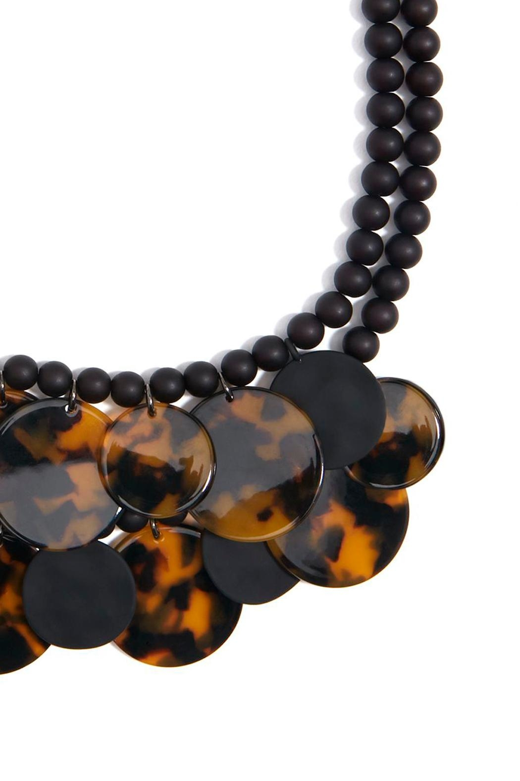 Wild Lilies Jewelry  Tortoise Statement Necklace - Side Cropped Image