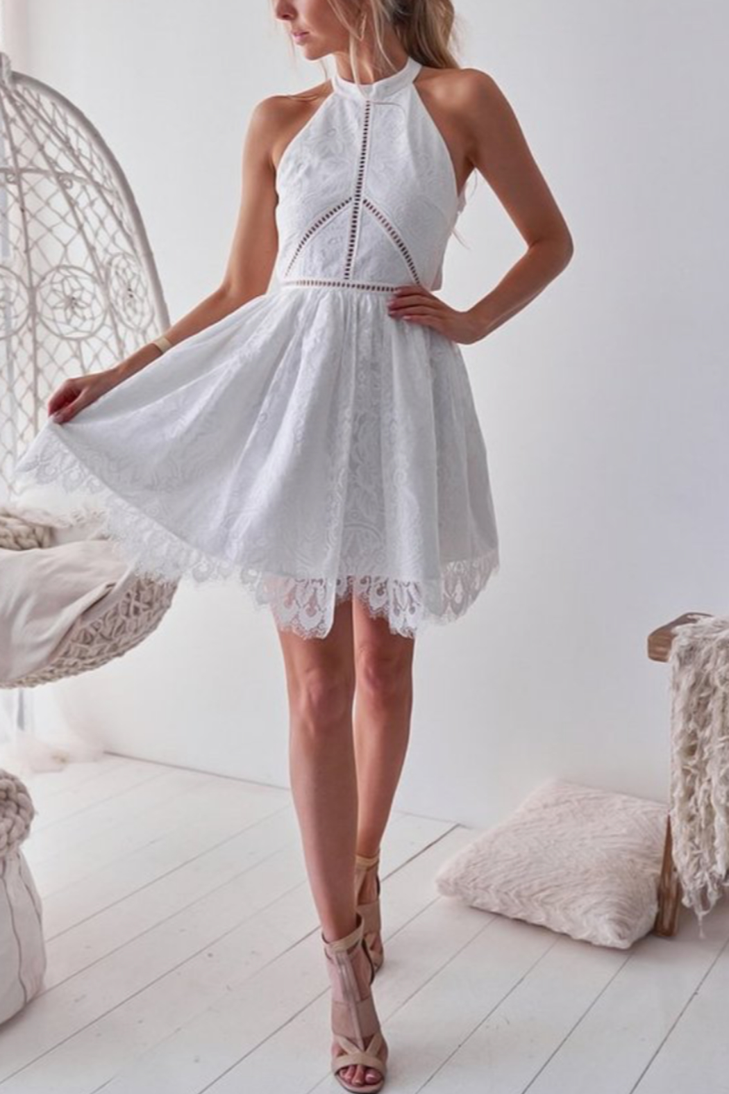 Two Sisters Tory Lace Dress - Front Cropped Image