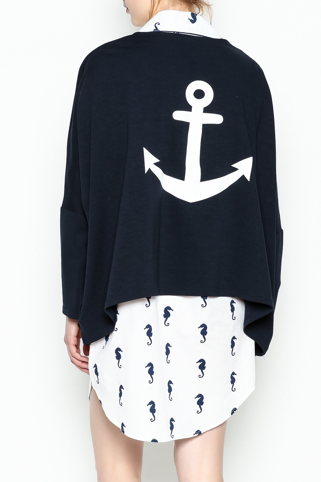 Toss Designs Anchor Cardigan - Back Cropped Image