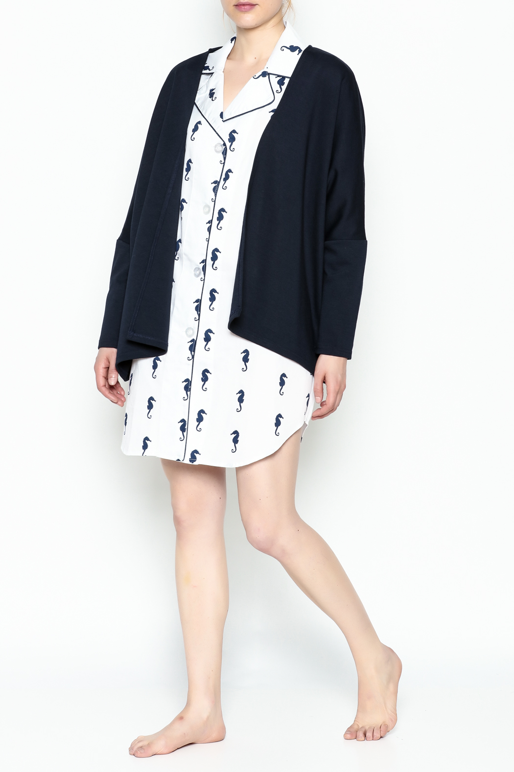 Toss Designs Anchor Cardigan - Side Cropped Image