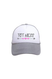 Tiny Trucker  Tot Mess Trucker Hat - Front cropped