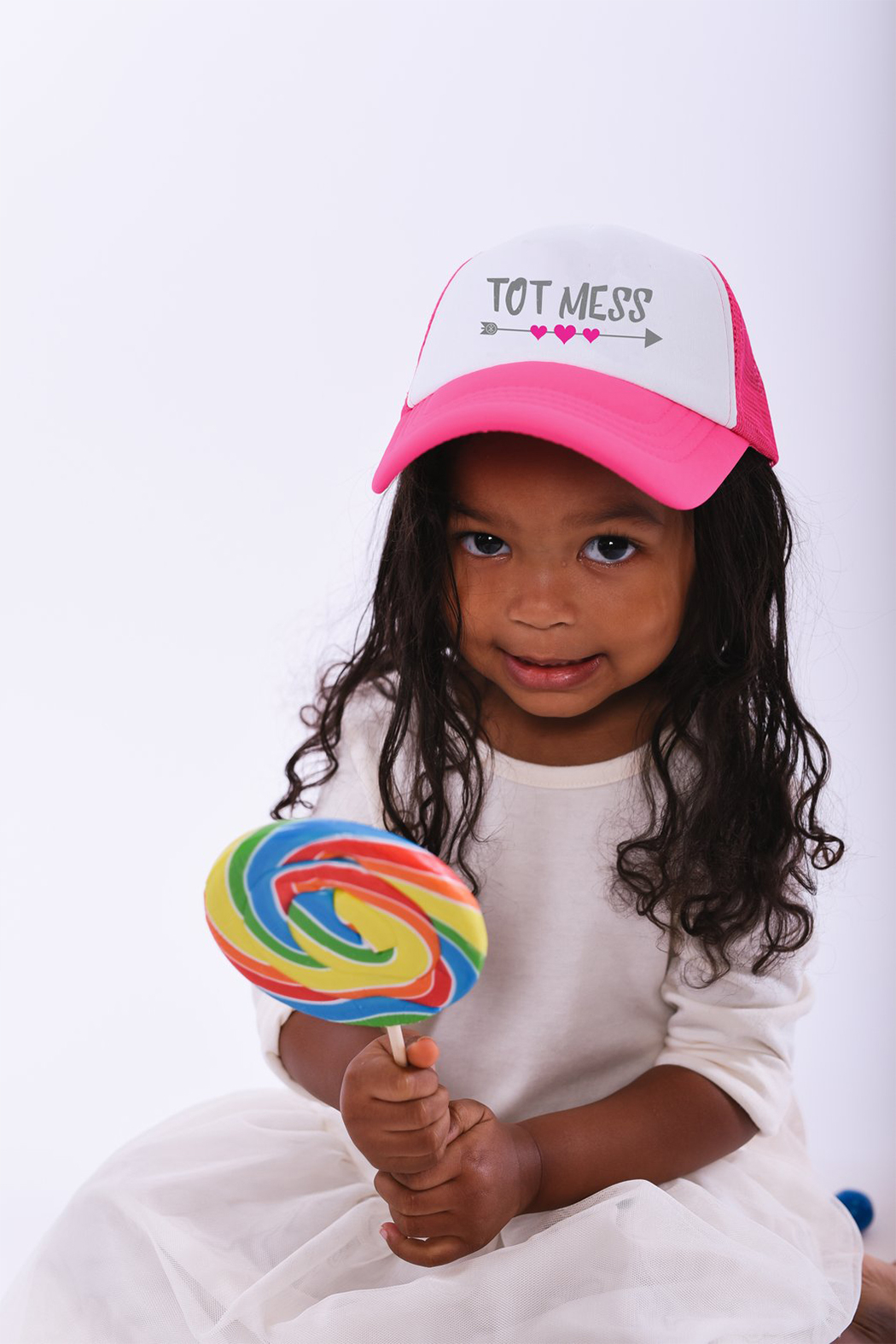 Tiny Trucker  Tot Mess Trucker Hat - Side Cropped Image