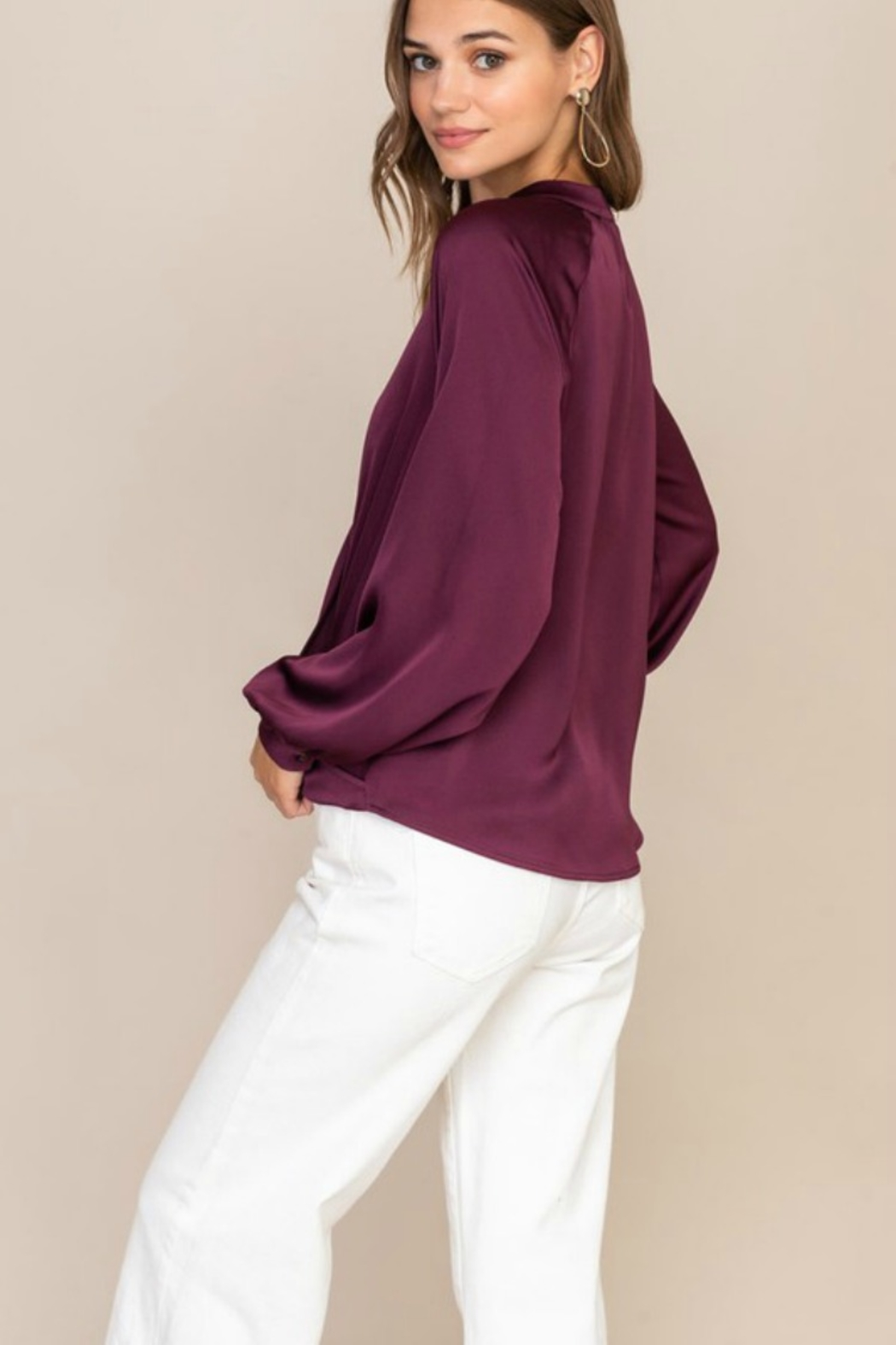 Lush  TOTAL BABE BLOUSE - Front Full Image