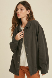 Wishlist Total Distress Button Down - Front cropped