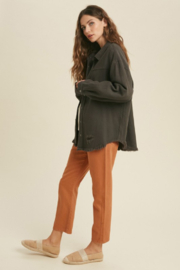 Wishlist Total Distress Button Down - Front full body