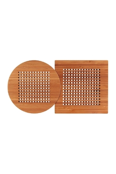 Totally Bamboo 2 Piece Bamboo Trivet Set - Alternate List Image