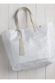 The Birds Nest TOTE BAG WITH TASSEL-BEIGE LEATHER TASSEL - Product Mini Image