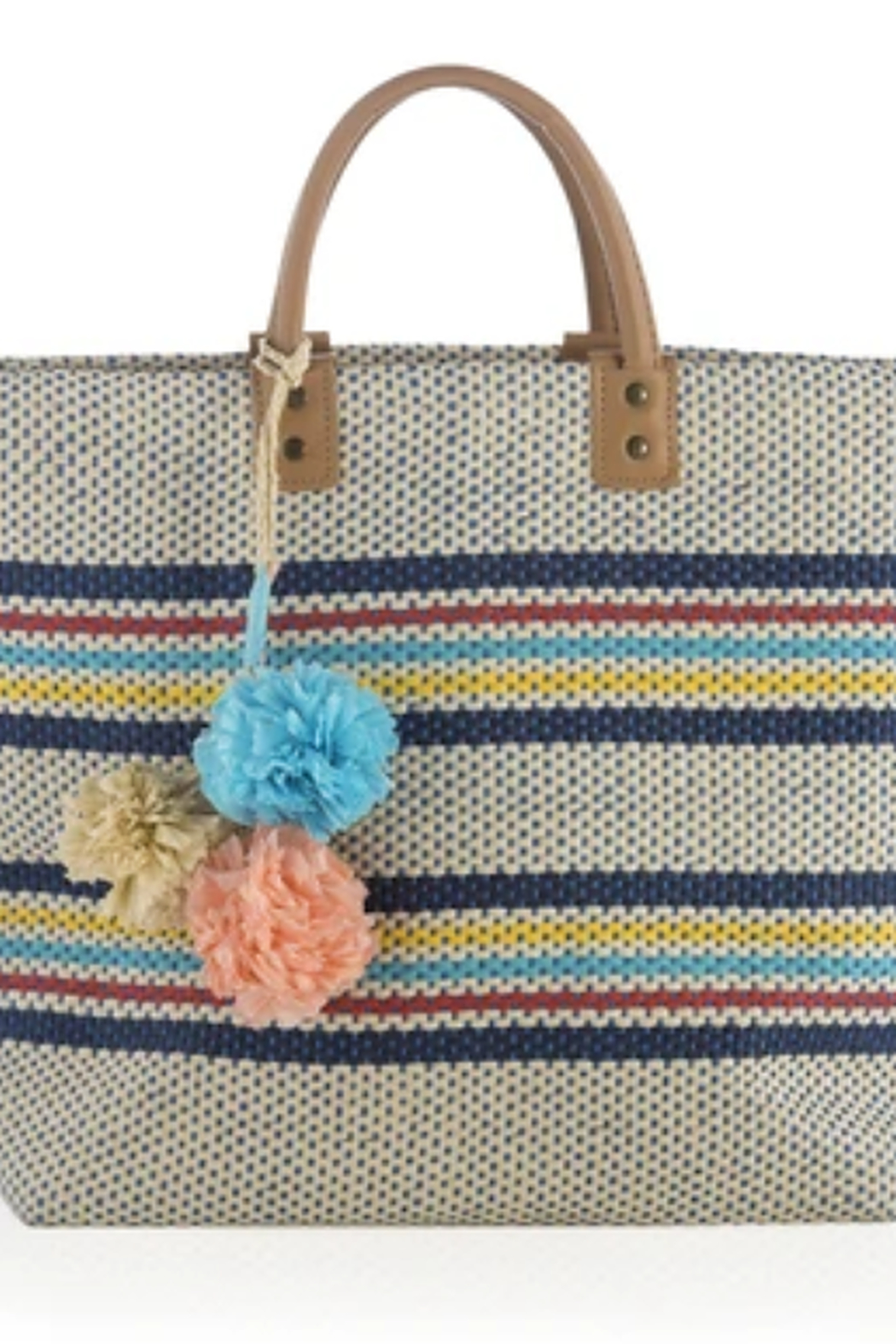 Shiraleah TOTE RIA STRIPE STRAW - Front Cropped Image