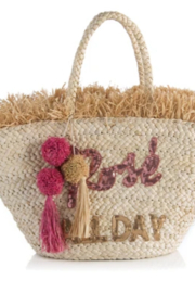 Shiraleah TOTE ROSE ALL DAY STRAW - Product Mini Image