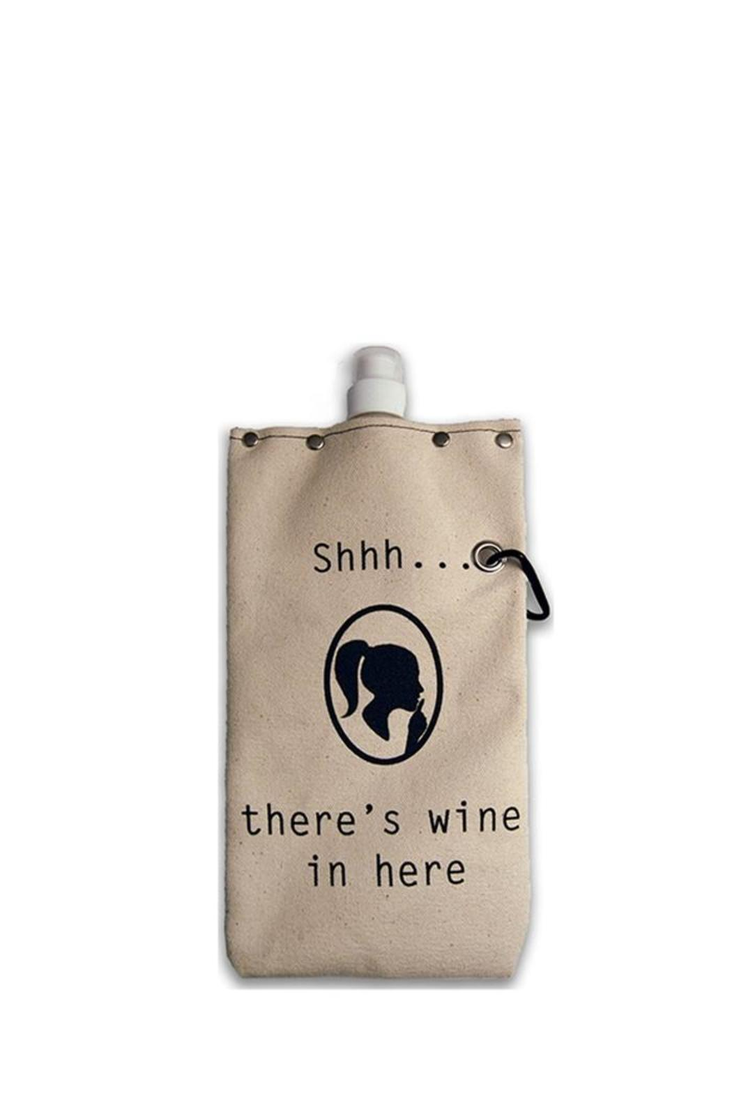 Tote + Able Shh Wine Flask - Main Image