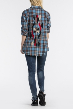 Shoptiques Product: Totem-Embroidered Blue Plaid