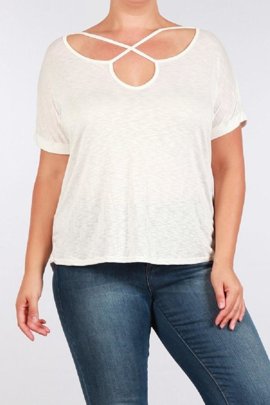 Toto Collection Cross Neck Tee - Main Image