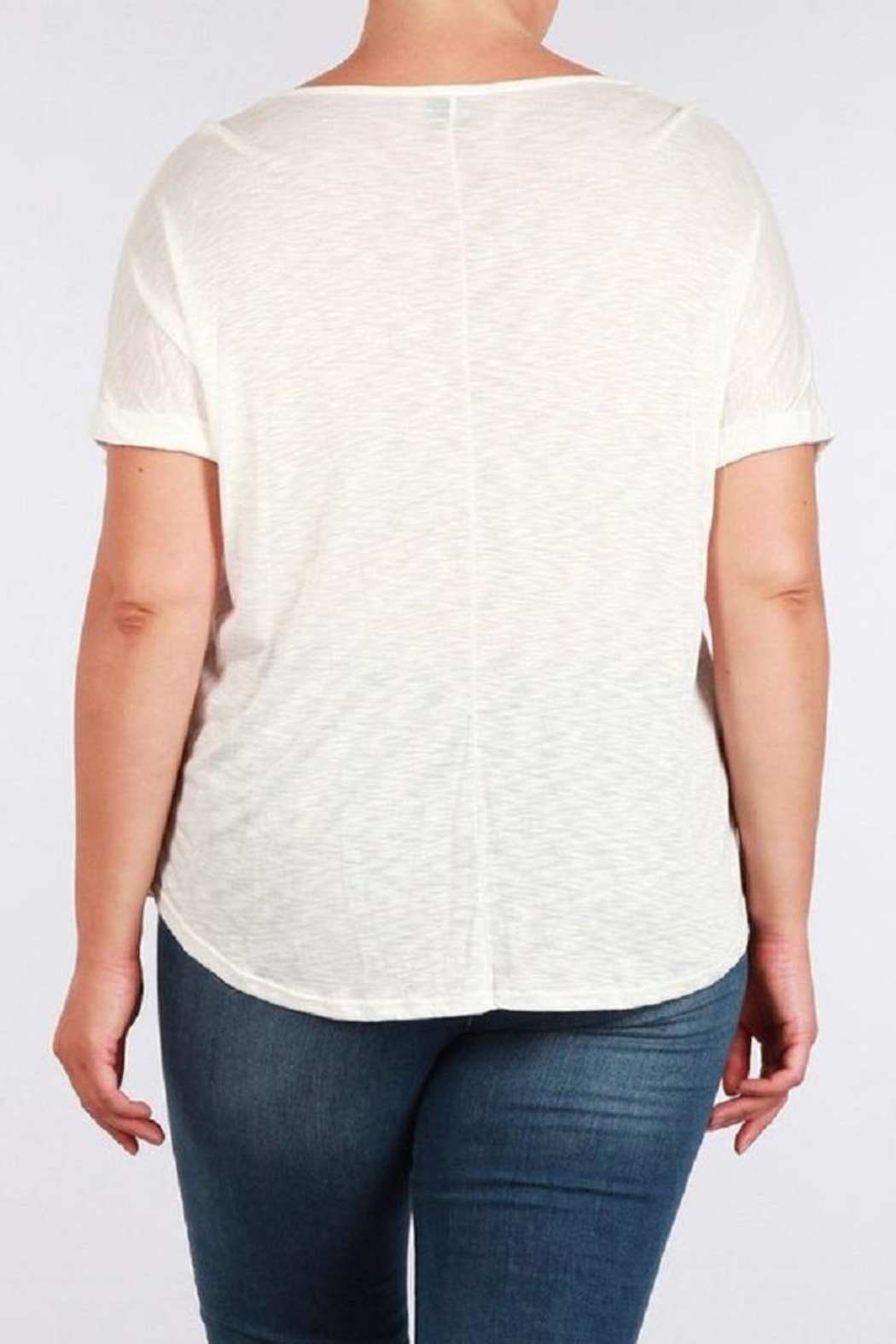 Toto Collection Cross Neck Tee - Side Cropped Image