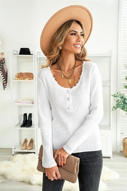 Lyn -Maree's Touch of Lace & Button Top - Product Mini Image