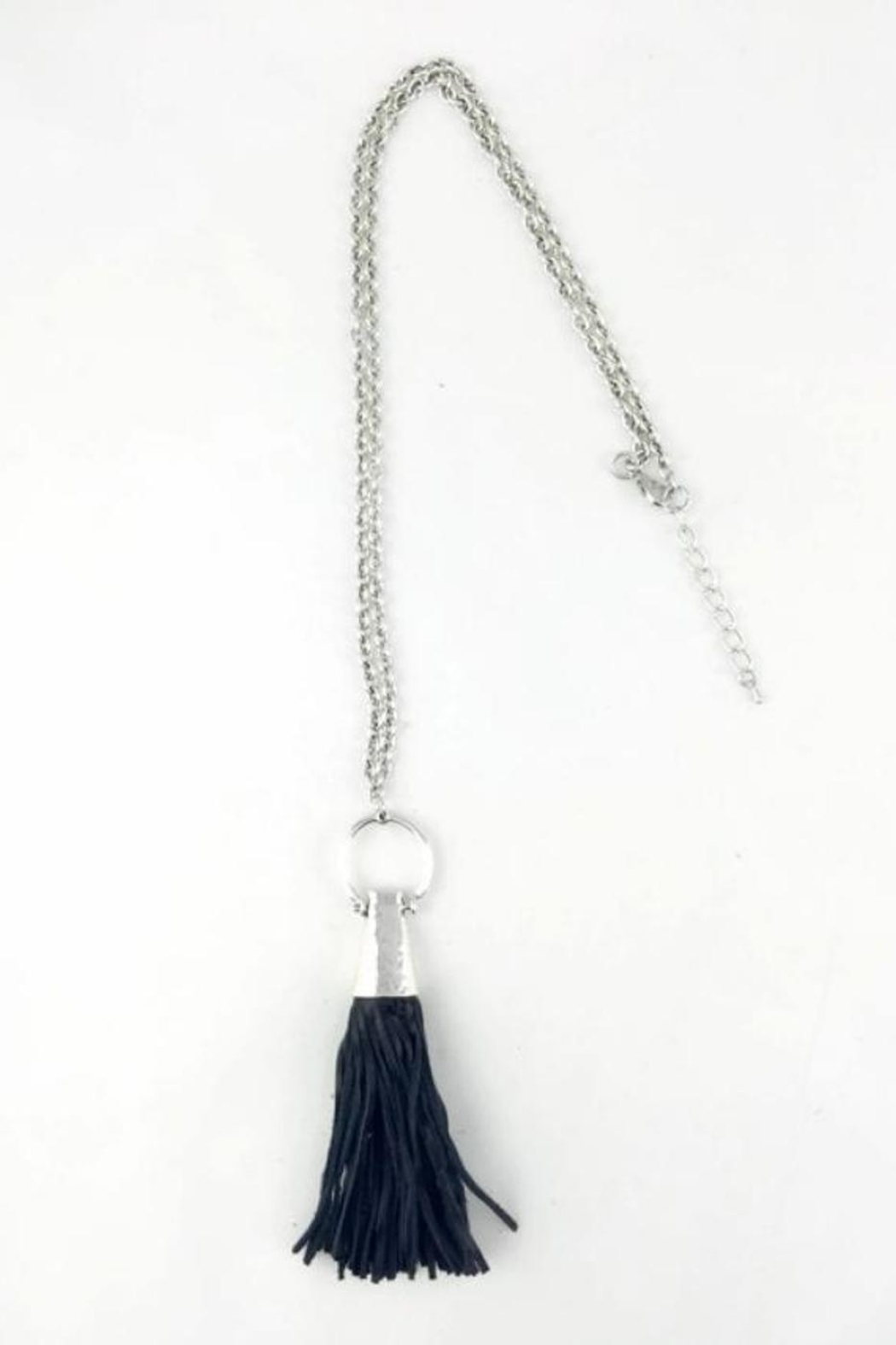 Touch of Style Long Tassel Necklace - Front Cropped Image