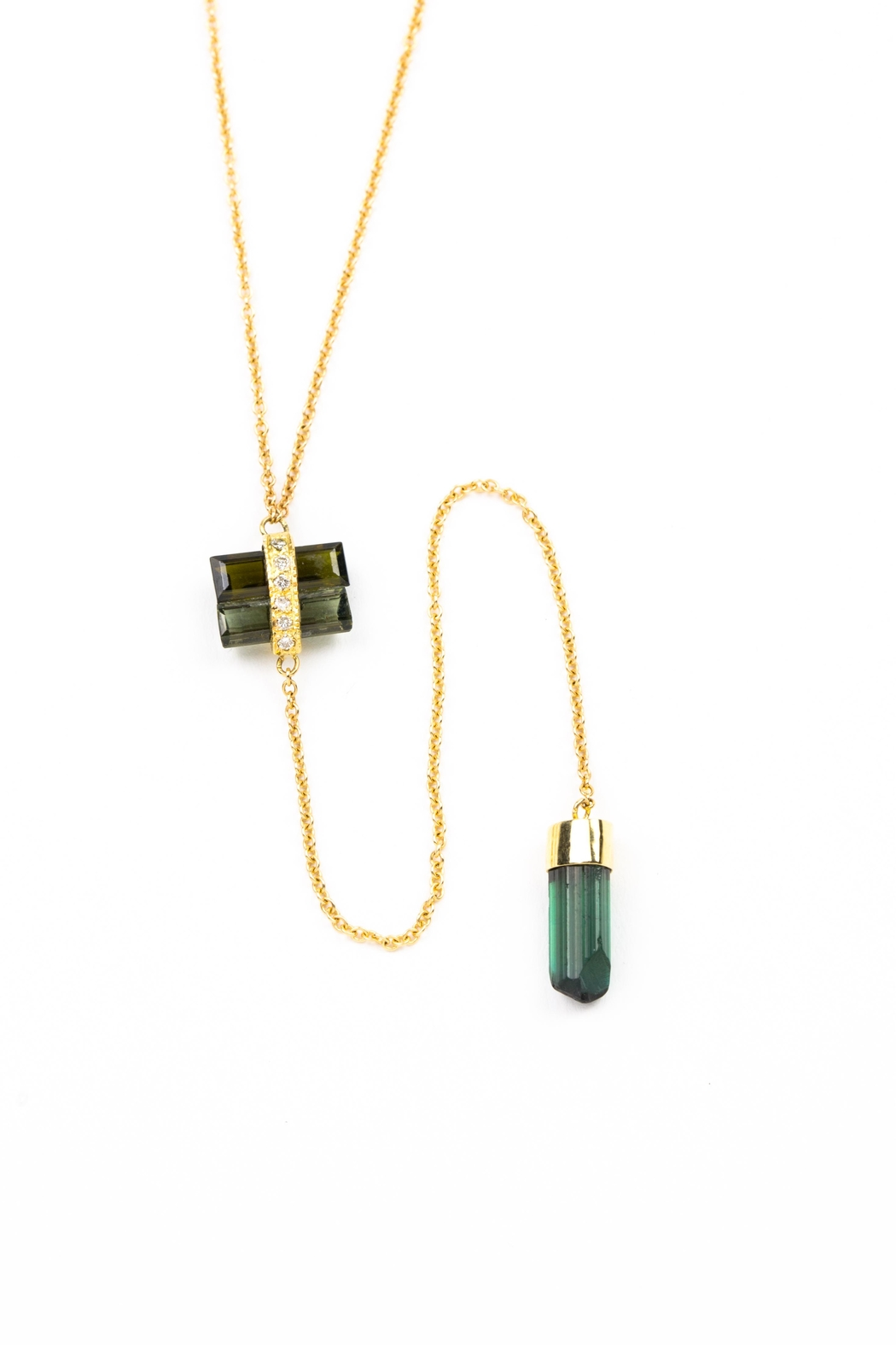 Jacquie Aiche Tourmaline Baguette Necklace - Main Image