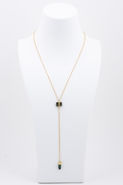 Jacquie Aiche Tourmaline Baguette Necklace - Front full body