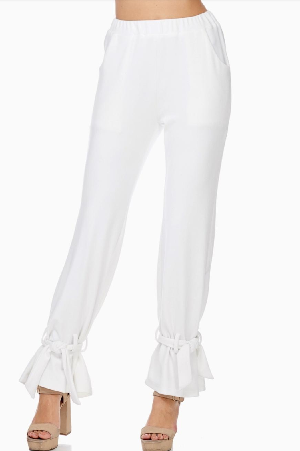 TOV Ankle Tie Trousers - Back Cropped Image
