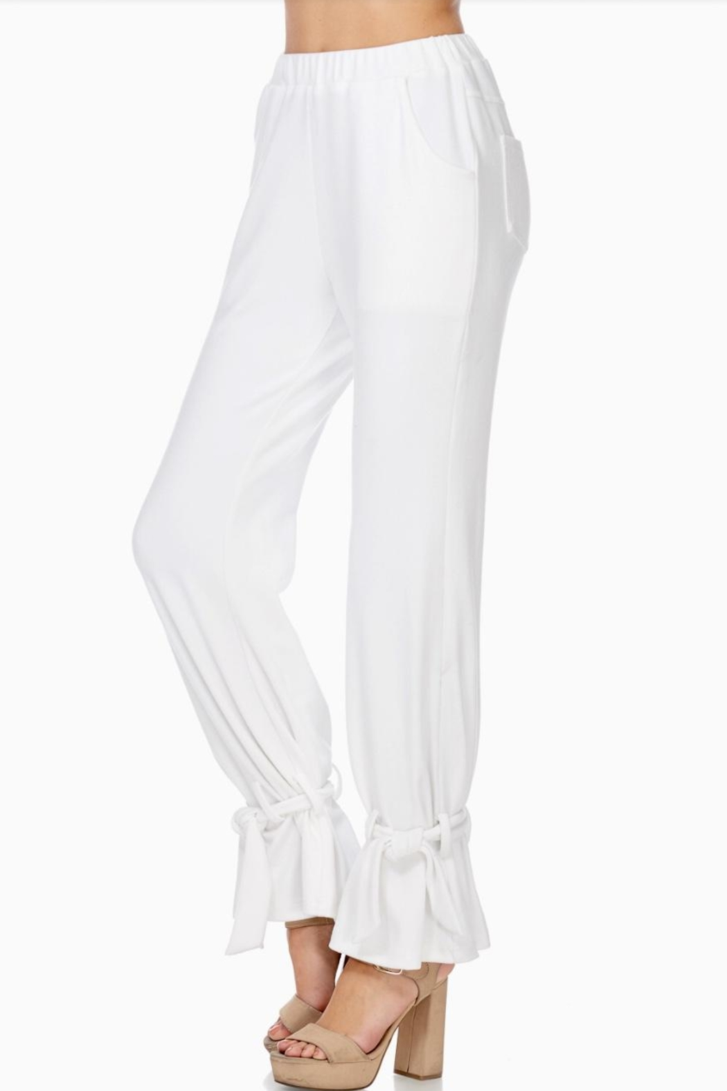 TOV Ankle Tie Trousers - Front Full Image