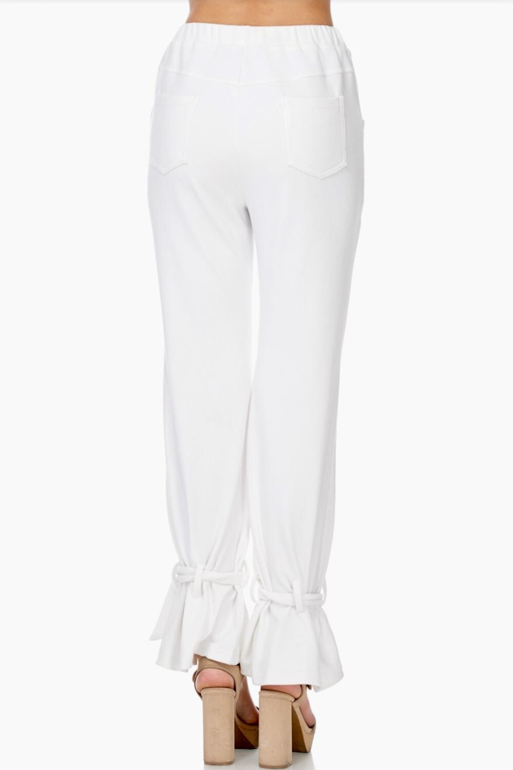 TOV Ankle Tie Trousers - Side Cropped Image