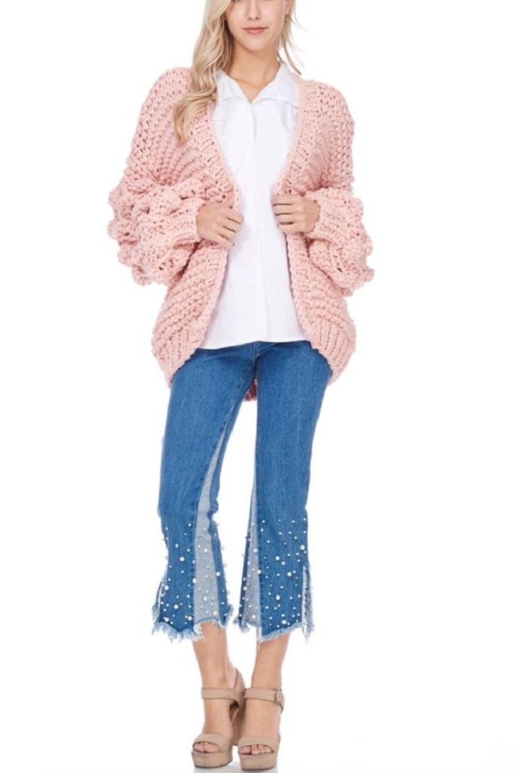 TOV Knitted Knobby Sweater - Main Image