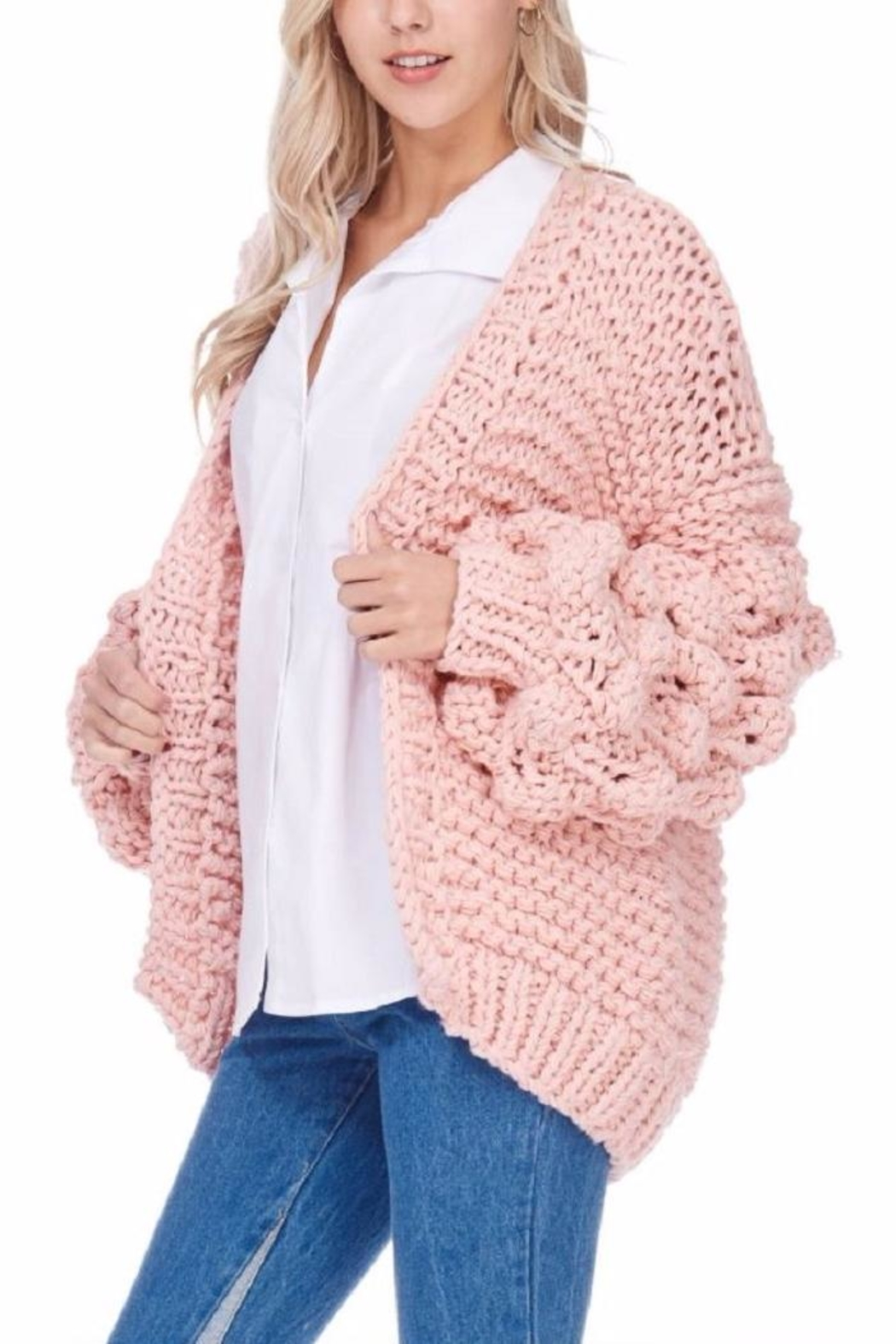 TOV Knitted Knobby Sweater - Side Cropped Image