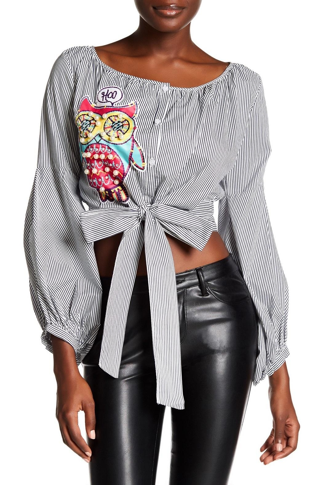 TOV Owl Peasant Top - Front Cropped Image