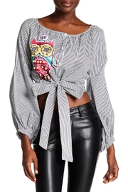TOV Owl Peasant Top - Front cropped