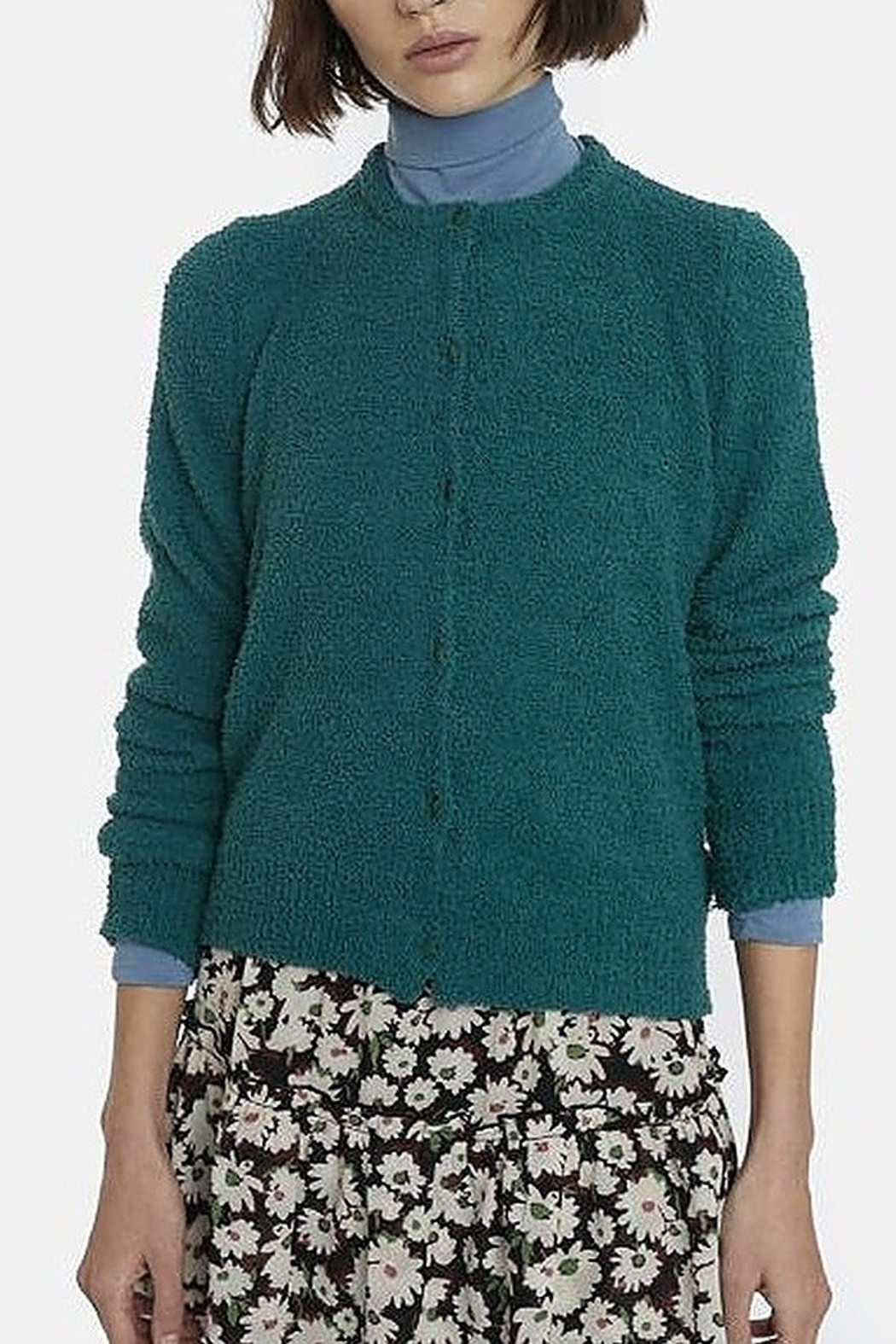 Compania Fantastica Towelling Cardigan - Front Cropped Image