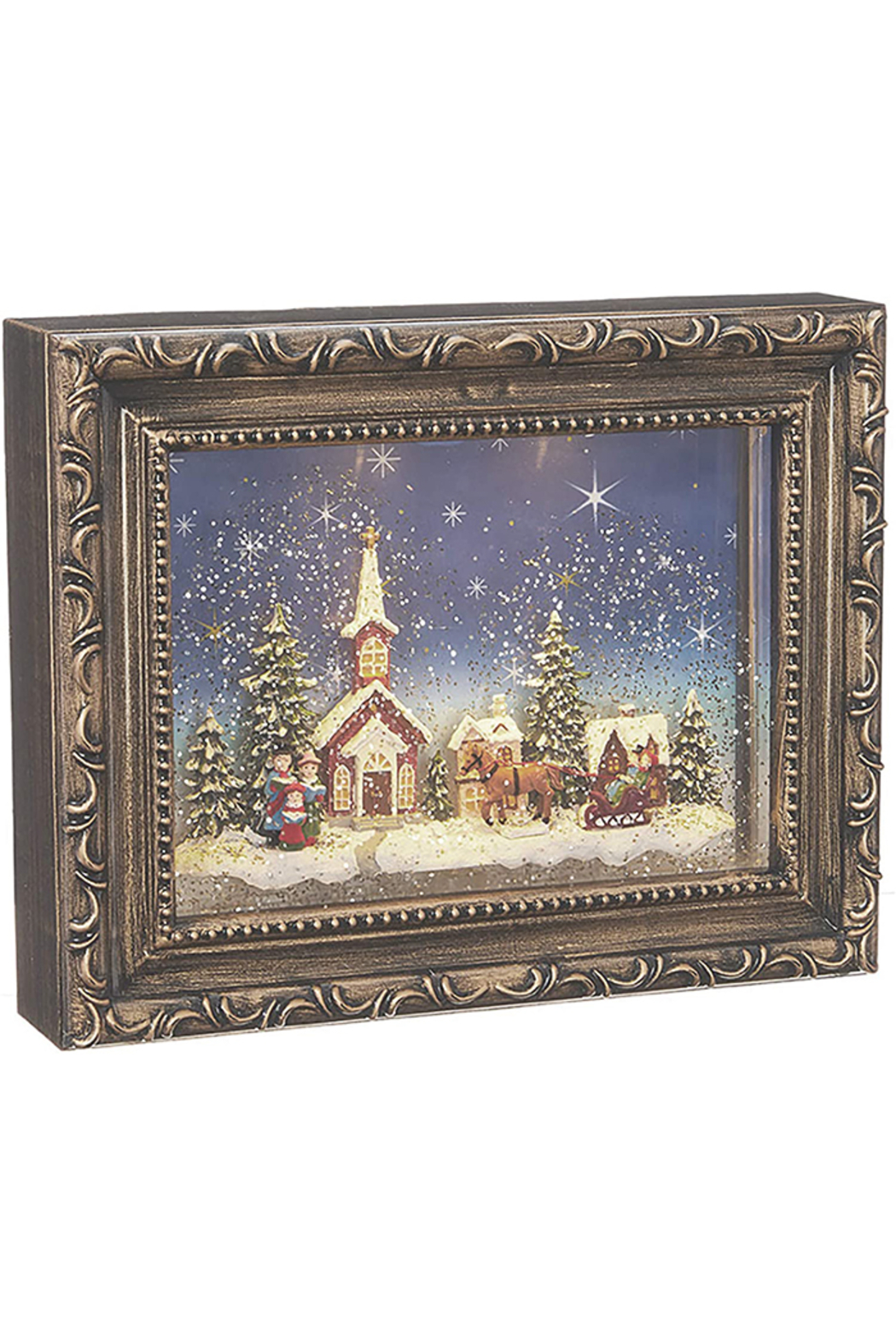 RAZ Imports Town Scene Lighted Water Picture Frame - Main Image