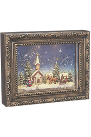 RAZ Imports Town Scene Lighted Water Picture Frame - Product Mini Image