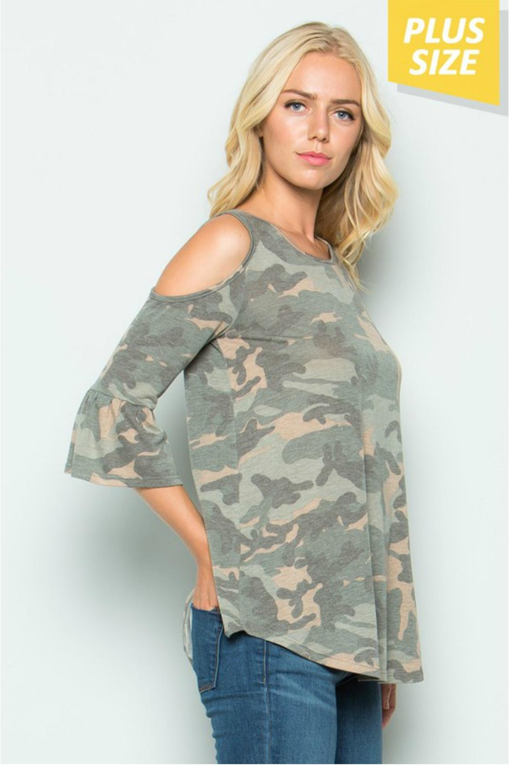 Towne Camo Cold Shoulder - Front Full Image