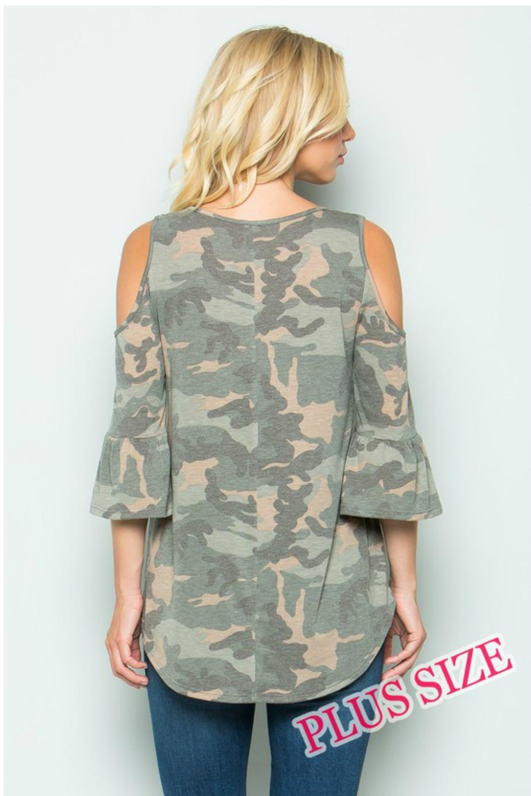 Towne Camo Cold Shoulder - Side Cropped Image