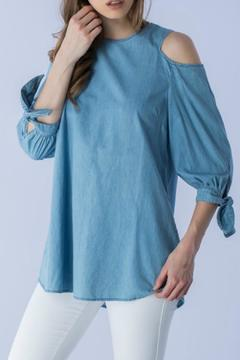 Shoptiques Product: Chambray Cold Shoulder