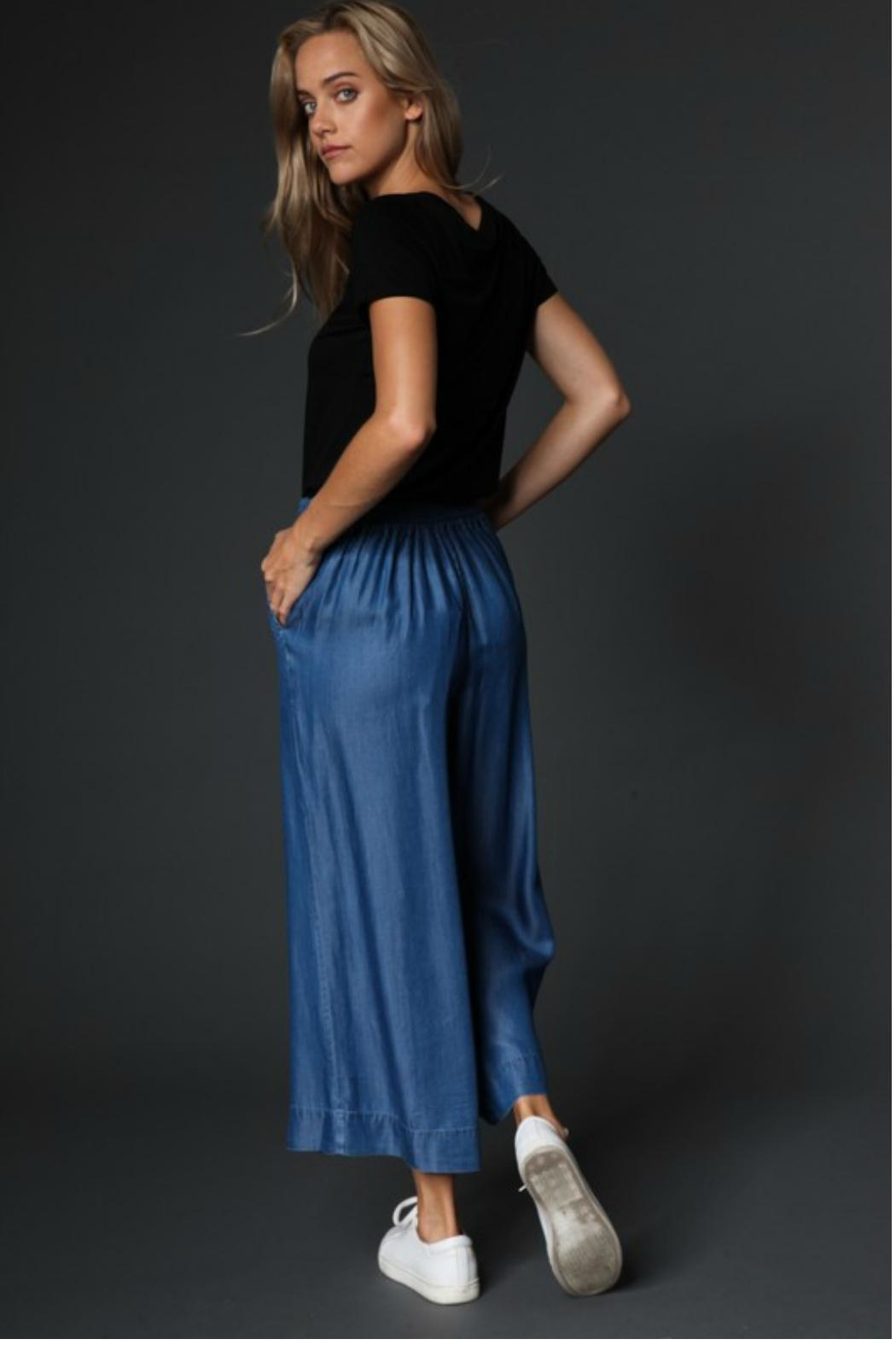 Towne Chambray Pant - Side Cropped Image
