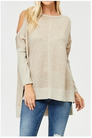 Towne Cold Shoulder Top - Front cropped