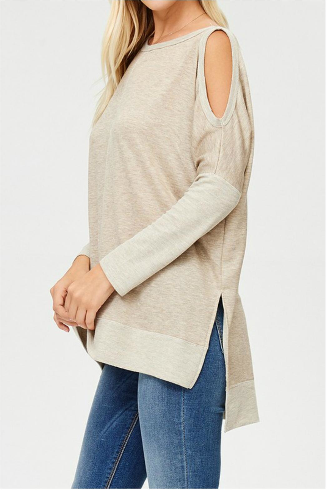 Towne Cold Shoulder Top - Front Full Image