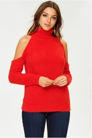 Towne Cold Shoulder Turtleneck - Product Mini Image