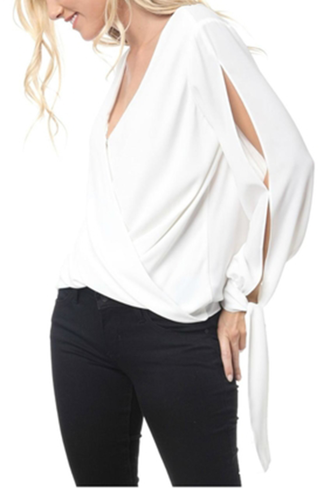 Towne Crossover Blouse - Front Full Image