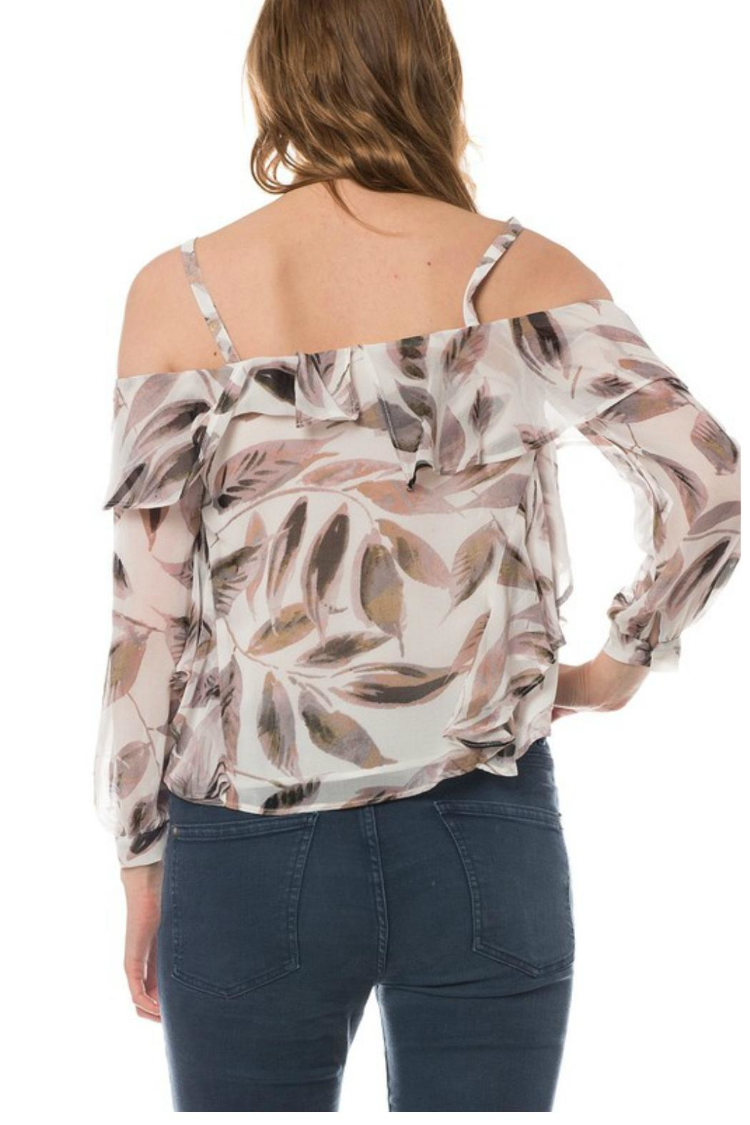Towne Feather Print Top - Side Cropped Image