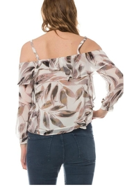Towne Feather Print Top - Side cropped
