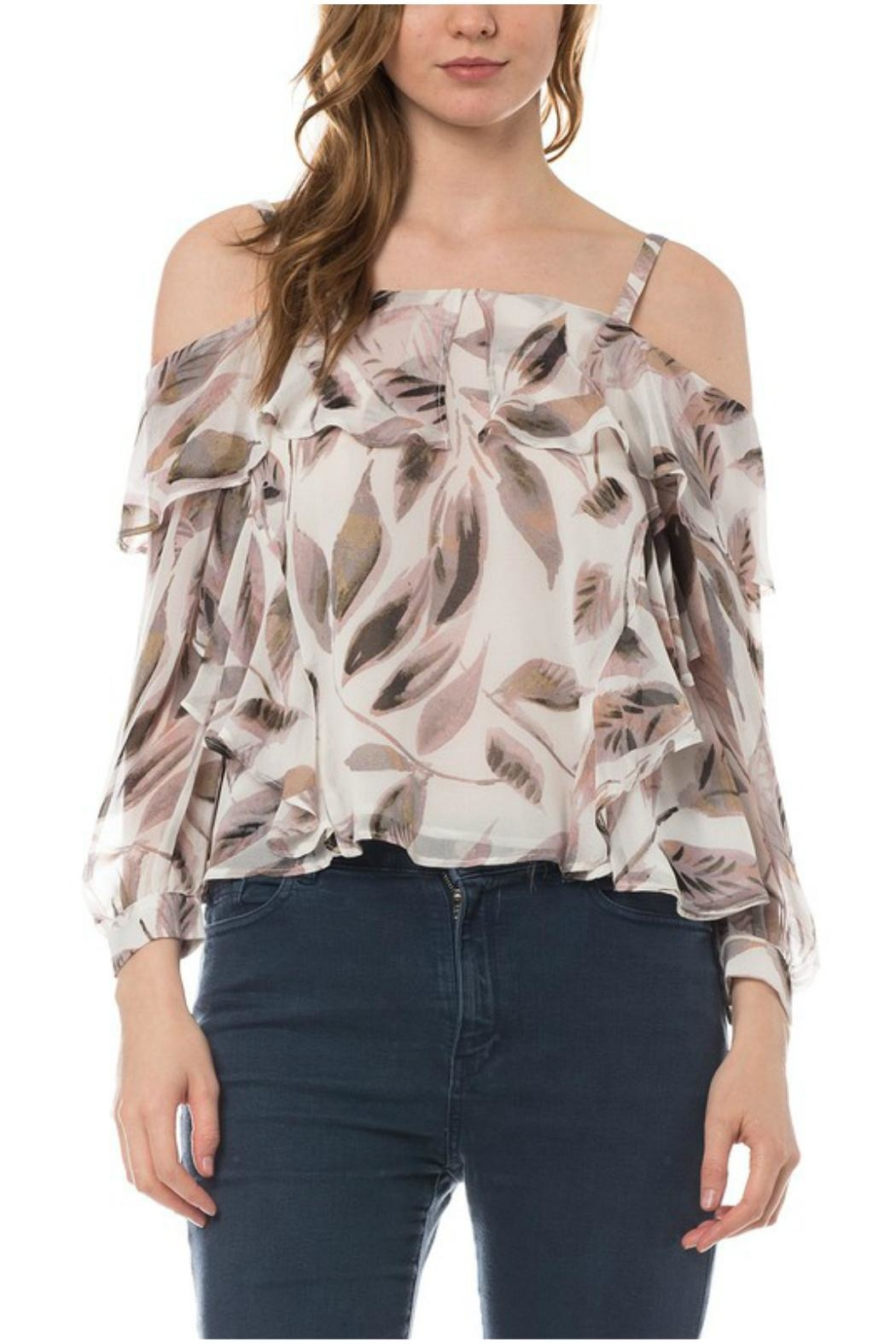 Towne Feather Print Top - Main Image