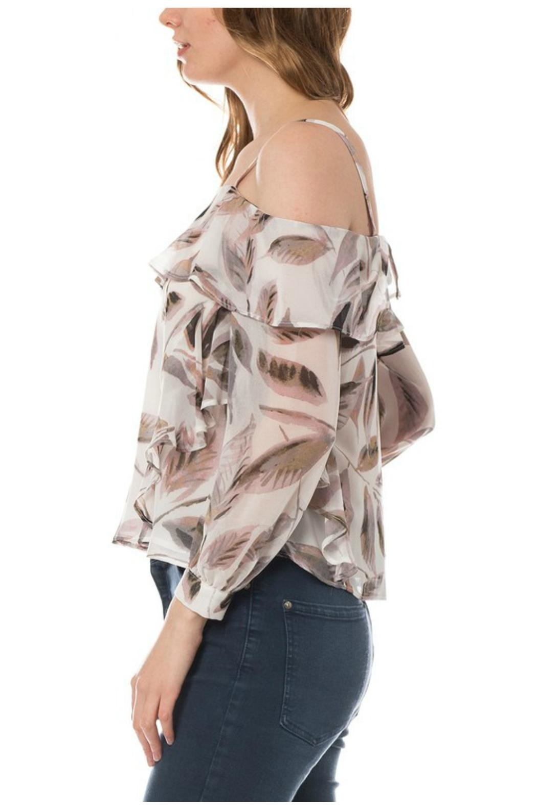 Towne Feather Print Top - Front Full Image